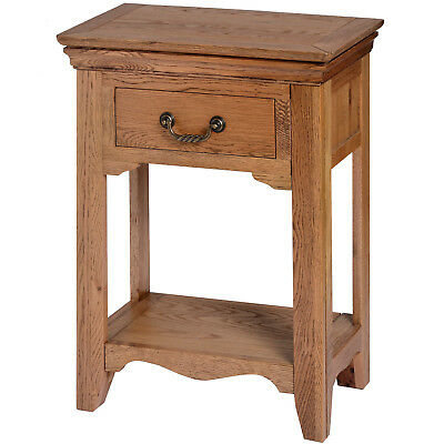 Console Table with 1 Drawer Open Shelf Dorchester Solid Oak Wood Home Furniture