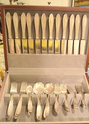 International Wedgwood Sterling Silver Flatware Set 65 pieces 75 Troy Ounces