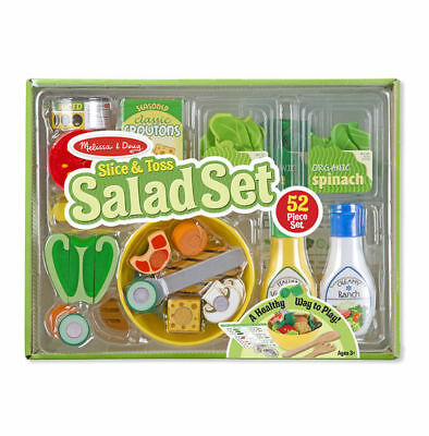 Brand New Melissa & Doug Salad & Toss Set Pretend Play Food kitchen role play