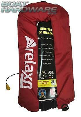 Relaxn® Inflatable PFD Manual Offshore 150N + whistle Size Adult 40kg+ Aust Std