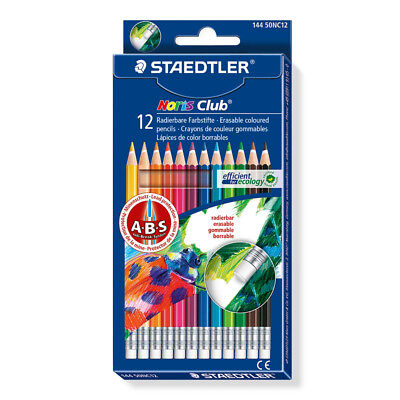 Staedtler Noris Club Erasable Coloured Pencils Pack 12