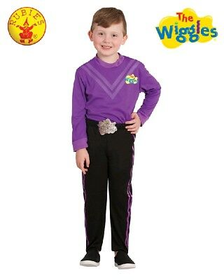 THE WIGGLES - Deluxe Costume LACHY Purple Wiggle Dress Up size 3-5 or 1-3yr NEW