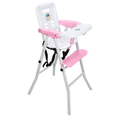Baby High Chair Detachable Rocking Infant Toddler Feeding Booster Safety Pink BABY HIGH CHAIR
