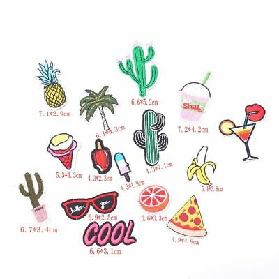 15PCs Mixed Iron On Patches For Cloth Embroidery Fabric Badge Sticker Jean Decor