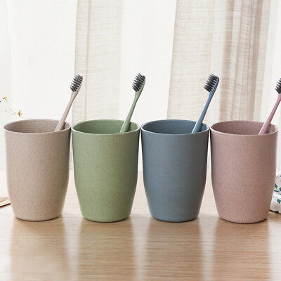 Double Wash Gargle Cup Tooth Mug Toothbrush Toothpaste Holder Round DIY #zz