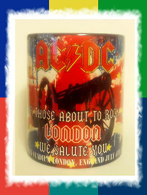 Ac/dc- Wembley- London- Union Jack-Rock Or Bust-  World Tour 2015- Mug