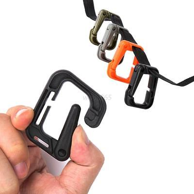 2Pcs MOLLE Locking D-ring Carabiner Hook Clip Outdoor Backpack Safety Buckle HOT