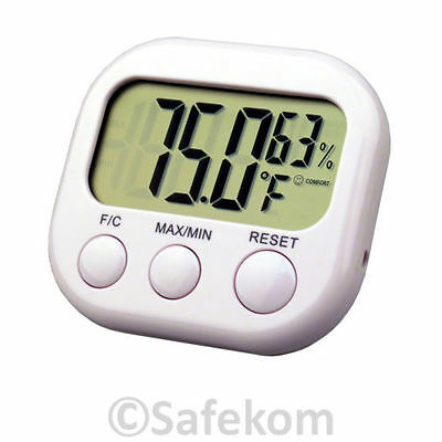 Thermometer Home Lounge Kitchen Bedroom Conservatory with Humidity Hygrometer