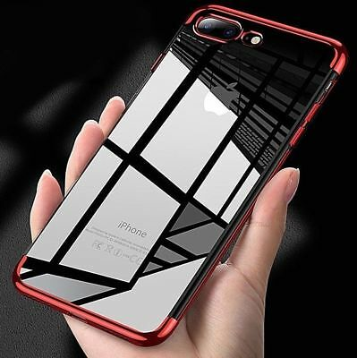 For Apple iPhone X 8 Case Slim Clear TPU Soft Bumper Shockproof Thin Back Cover