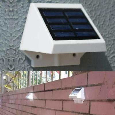 Solar Power Lights LED Outdoor Garden Yard Wall Gutter Fence Pathway Lamp White