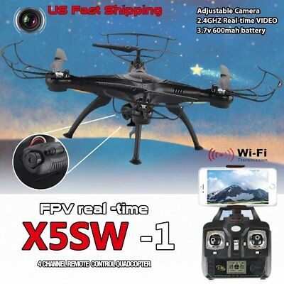 X5SW -1 Wifi FPV 2.4Ghz RC HD Camera Drone Quadcopter RTF Black Helicopter RC DR