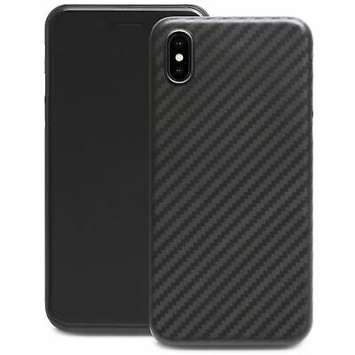 Ultra Thin Slim Hard Case Cover Carbon Design Cover For Apple iPhone X