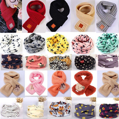 Kids Baby Girls Boys Snood Scarf Scarves Shawl Neckerchief / Knitted Loop Winter