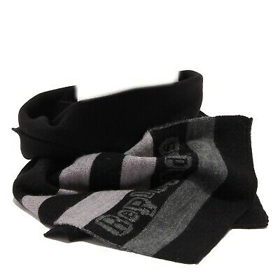 3753T sciarpa bimbo REPLAY & SONS WITHOUT LABEL grey/black scarf boy kid