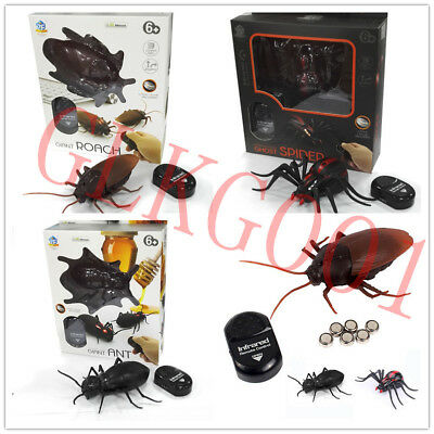 NEW Infrared Remote Control Mock Fake Cockroach RC Toy Prank Insects Joke