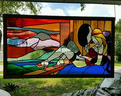 Exotic Stained Glass Window /  Panel