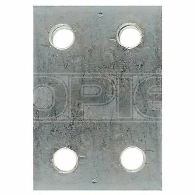 Maypole Drop Plate - 4 Hole - Zinc Plated - 2in. (230)