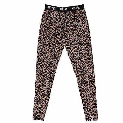 Eivy Womens Icecold Ski Snow Thermal Base Layer Pants  Leopard