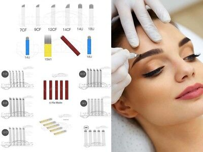 Microblading Permanent Make up Blades/Nadeln/Needle/Pins Je 10 Stück
