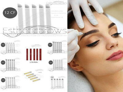 Microblading Permanent make up pmu  Blades/Nadeln/Needles 12 Nadel VE 10 Stück