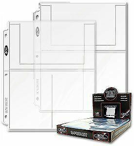 20 Twenty Pages BCW Pro 3Pocket Page 4 X 6 Cards, Postcards or Photos NEW