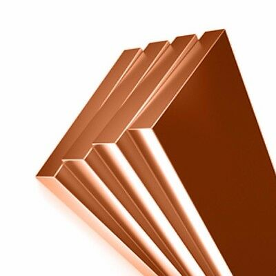 COPPER C101 FLAT BAR - Strip - Plate - SOLID PURE COPPER - ALL SIZE + LENGTHS!