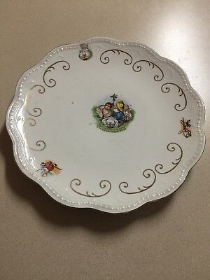 Antique 1905 Royal Baby Plate The Tiny Todkins All Agree Upon the Lawn To Plant