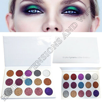 New 15 Colour Glitter Eyeshadow Palette Highlighter Natural Cosmetic Make up Set