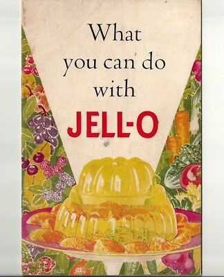 1936 Antique Collectible Exquisite JELL-O Dessert Booklet