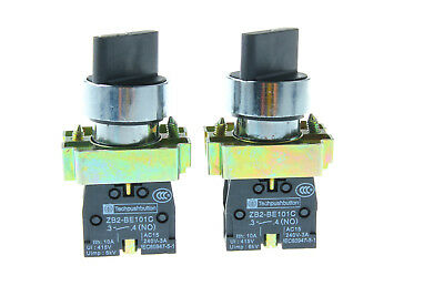 2pcs Maintained XB2-BD21C 2Position NO Select Selector Switch US Shipping