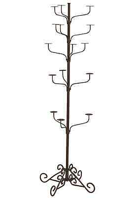 Hat Display Rack Boutique 5-Tier Millinery Floor Stand Custom Rust