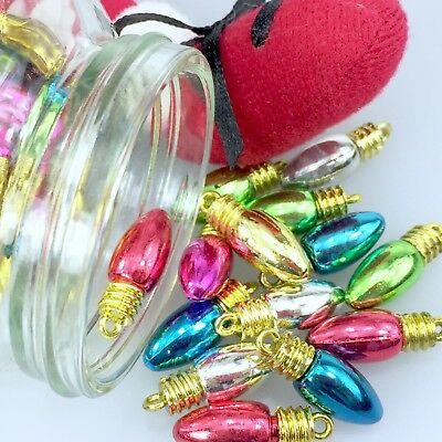 Christmas Dangling Light Charms 18mm x 5mm Sold per 10 Charms