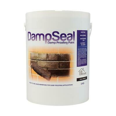 Damp Proof Paint 5Kg BLACK | DAMPSEAL DPM Wall Floor Waterproof Liquid Membrane