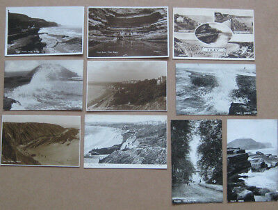 FILEY Yorkshire, Job Lot of 10x Old Postcards 1900-1950s, inc 3x RPS