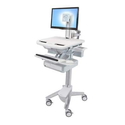 StyleView® Medical Cart with LCD Pivot, 1 Drawer