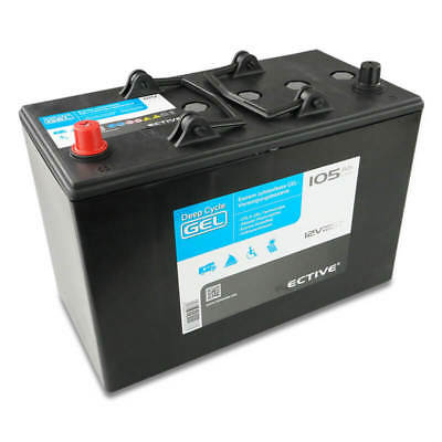 ECTIVE EDC G105 GEL Deep Cycle 12V 105Ah gel akku Gelbatterie VRLA Batterie 85Ah