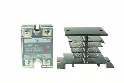 DD220D25 Solid State Relay SSR-25 DD Load 5-220V DC DC to DC 25A & Heat Sink
