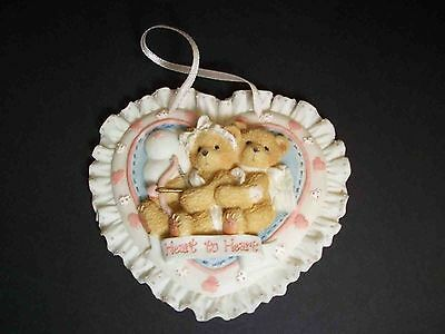 Cherished Teddies Heart to Heart plaque Priscilla Hillman 1994 Enesco Valentine