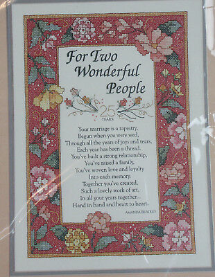 Vintage Dimensions Stamped Cross Stitch Kit Marriage is a Tapestry Sealed 3107