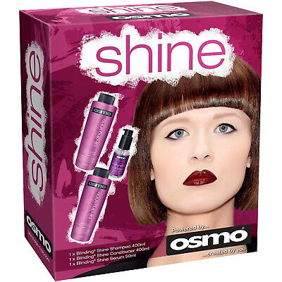 OSMO Blinding Shine Gift Pack Shampoo Conditioner Serum Smooth Glossy Hair