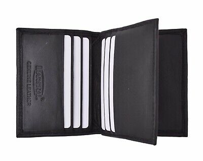 RFID Blocking Premium Leather Multi Credit Card Holder Wallet with Center Flap