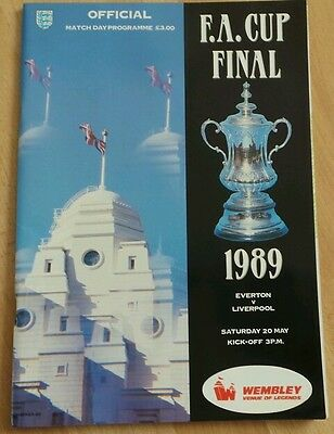 1989 FA CUP FINAL- EVERTON v LIVERPOOL (Official Match day Programme) .