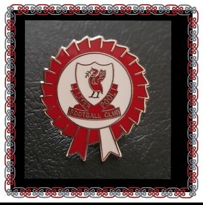 Liverpool Pin Badge - Red and White Rosette - Great Gift idea