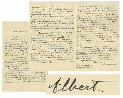 Albert Einstein A Letter Signed re Marriage & Relationship w Kids Deteriorating