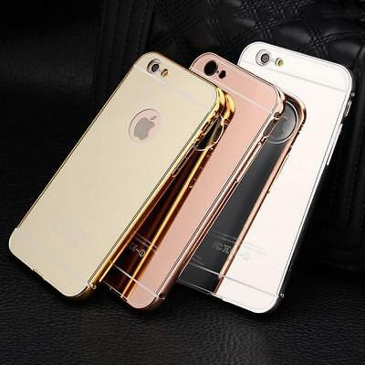 New Luxury Aluminum Ultra-thin Mirror Metal Case Cover for iPhone 6 6s 7 8 Plus