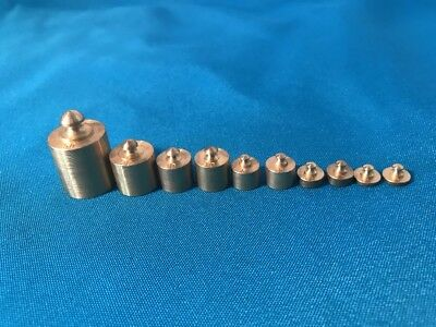 Brass Mass Set Of 10 Metric Weight 1 Gram To 50 Gram