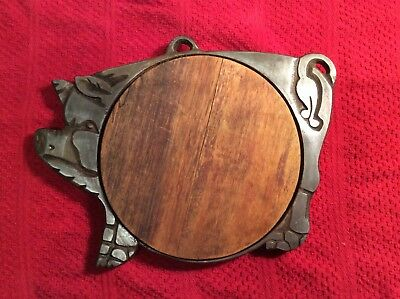 Vintage Wood and Metal PIG Cutting Board Wall Hanging