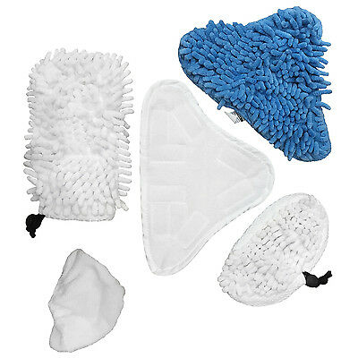 5pc Steam Mop Cleaning Pads Kit for H20 Steaming Mop Replacement Pad H2O 5 Pack,