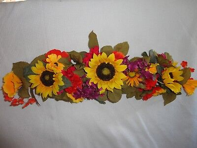 4 Your Home Interiors  28'' Mixed Sunflowers '' Swag/ Accents