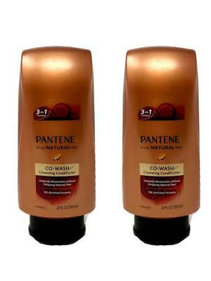 19ae7982fe627 Set of 2 Pantene Pro-V Truly Natural Hair Co-Wash Cleansing Conditioner